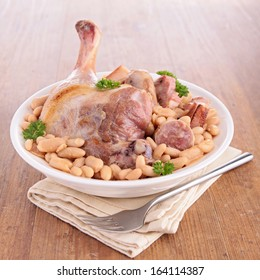 white bean and meats