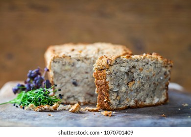 White bean and mushrooms vegan baked pate