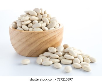 white bean on cup isolated on a white background