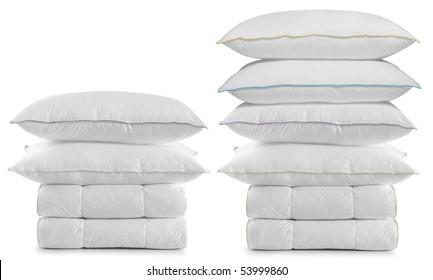 White bedding over white.
