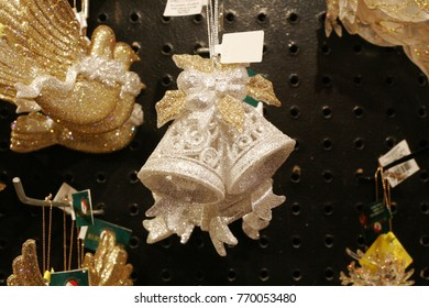 White bell Christmas tree decoration