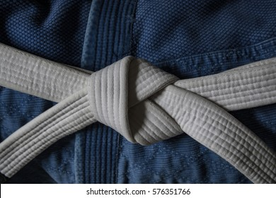 White belt with Blue Gi 2
