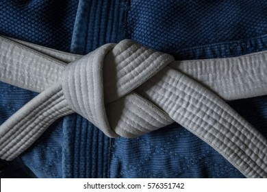 White Belt with Blue Gi