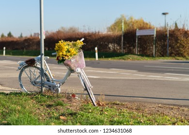 White bicycle as a warning to a cyclist who died