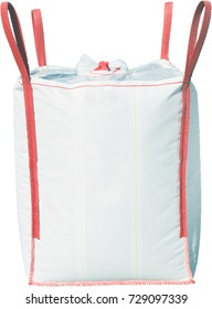 White big bag with red stripes