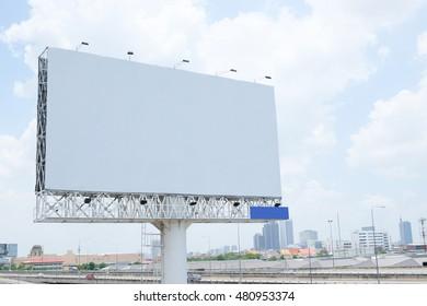white billboards in city
