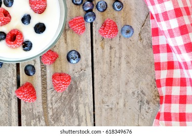 Blueberries Red White and Blueberry Pie Hanging  Crochet Top Kitchen Towel