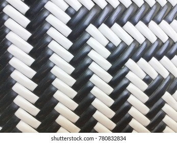 White and Black Artificial Rattan Background