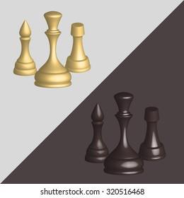 White and black chess set