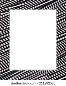 White and black digital frame. Add your text in the white field.