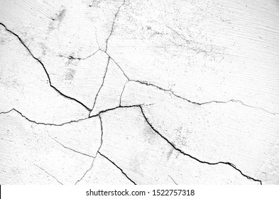 White black grey wall, floor with cracks, texture background