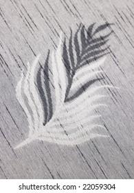 White and black leaf background cloth