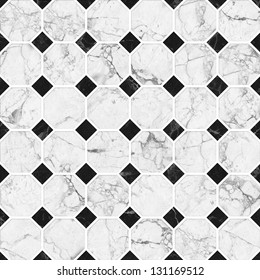 White and black mosaic marble texture.(High.Res.)