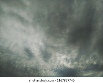 White and black skie