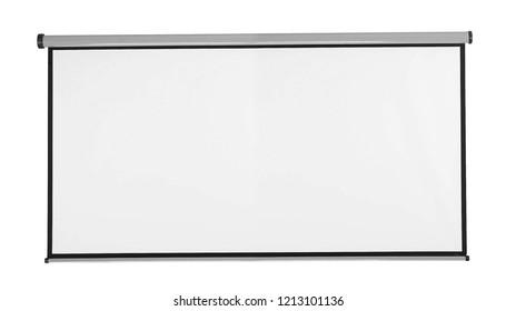 White blackboard isolated on white background