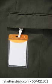 White Blank Badge