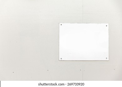 White Blank Banner on White Wood background