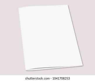 White blank book mock up