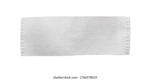 White blank clothing tag label isolated on white background