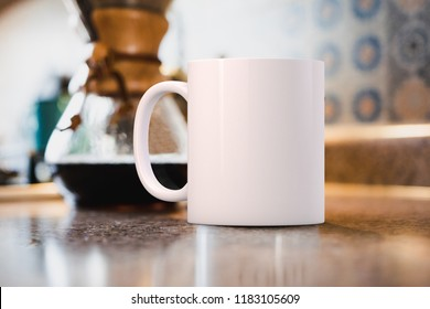 White blank coffee mug to add custom design or quote. Perfect for businesses selling mugs, just overlay your quote or design on to the image.