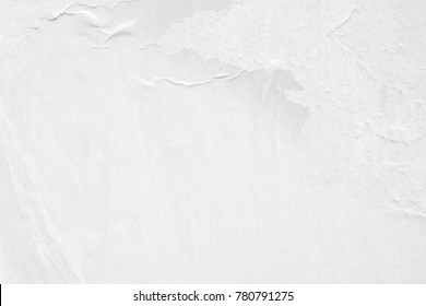 White blank crumpled paper texture background creased old poster texture placard backdrop surface empty space for text placard
