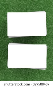 white blank name card front and back illustration