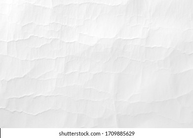 White blank paper crease or crumpled , abstract texture white background.