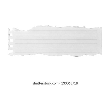 White blank paper isolate on white background