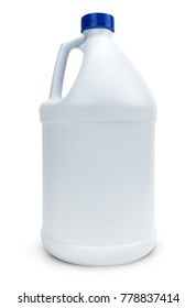 White Blank Plastic Bottle Isolated On White.