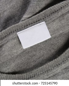 White Blank Textile Label Stitched on Lining