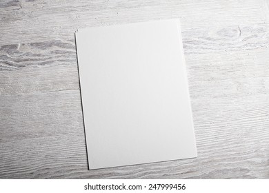White blank textured paper page mockup