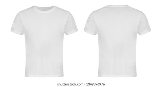 White Blank T-shirt Front and Back