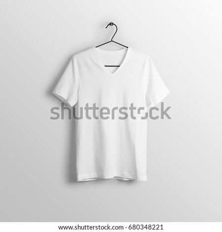 901c5f74c1cb White Blank Vneck Tshirt Mockup On Stock Photo (Edit Now) 680348221 ...