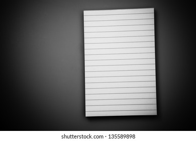 White blanked lined note pad