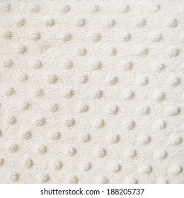 White blanket with dots texture