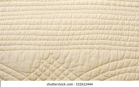 white blanket quilt background