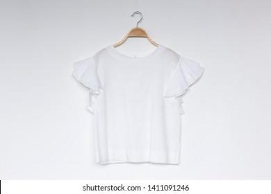 White blouse on white background.minimal style.