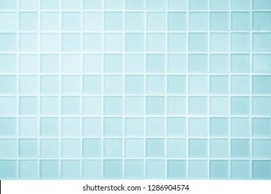 White or Blue ceramic wall and floor tiles abstract background. Design geometric mosaic texture for the decoration of the bedroom. Simple seamless pattern for backdrop advertising banner poster or web