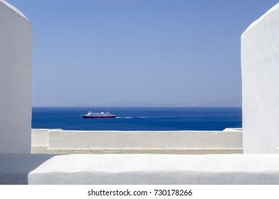 White and blue are the colors of Aegean island like Tinos