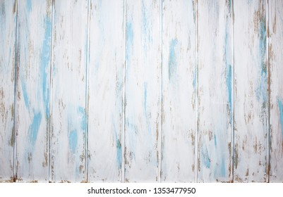 White blue painted old wooden background for photografy