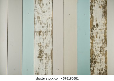 White blue rustic wooden background