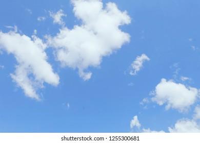 White cloud and beautiful blue sky
