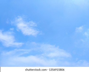 White cloud​ and​ beautiful​ blue sky - Air clouds in the blue sky. - Blue backdrop in the air - subtle background