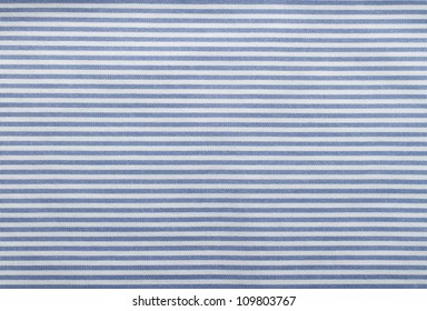 White and blue striped fabric texture with copy space