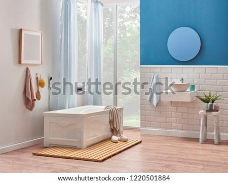 Fabulous White Blue Wall Decoration White Ceramic Stock Photo Edit Download Free Architecture Designs Xaembritishbridgeorg