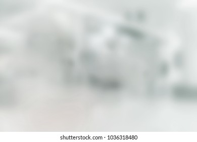 White blur abstract background, Inside the building