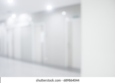 White blur Abstract  hospital or clinic interior for backgrounds .