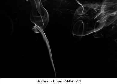 white blur smoke isolated on black background. Used for material.