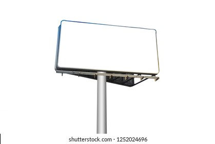 white board or billboard sign on white background