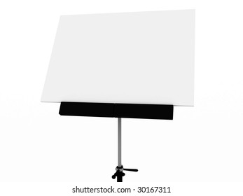 White Board for drawing isolated on background